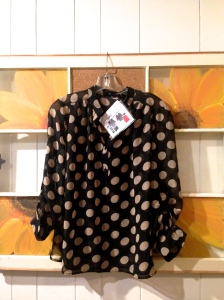 "41 Hawthorn Missy Polka Dot Tab-Sleeve Blouse (Initial thoughts: ""Marry me, blouse"") $58.00"