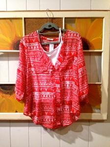 Ezra Mack Tribal Print Split-Neck Blouse (Initial Thoughts: Be mine, new shirt) $58.00