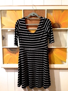 Angie Wes Striped 3/4 Sleeve Knit Dress (Initial Thoughts: Where do my shoulders go?) $58.00