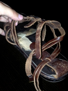 Tip: if you're holding your shoes together with bandages, they are actually trash.