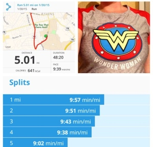 I was pretty proud of this run. I was moody all day and then something changed halfway through this run and I felt like I was flying.