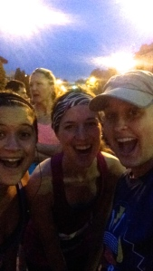 Kristi, Betsy, and me at the start. We're pretty excited for three girls who are awake way too early in the day.